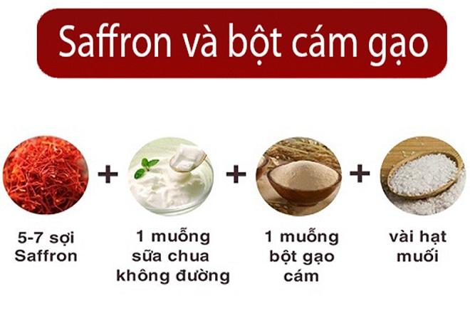 saffron sua chua bot cam gao - Da Sáng Mịn Khi Tẩy Tế Bào Chết Với Saffron